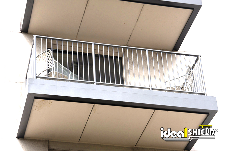 Ideal Shield's Steel Handrail used for a balcony railing