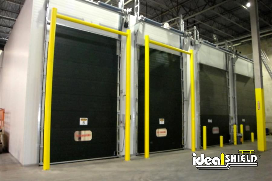 Ideal Shield's Goal Post Dock Door Protection for Cold Storage Facilities