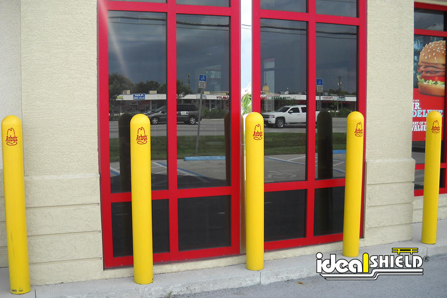 Ideal Shield's Bollard Covers with custom decals for Arby's