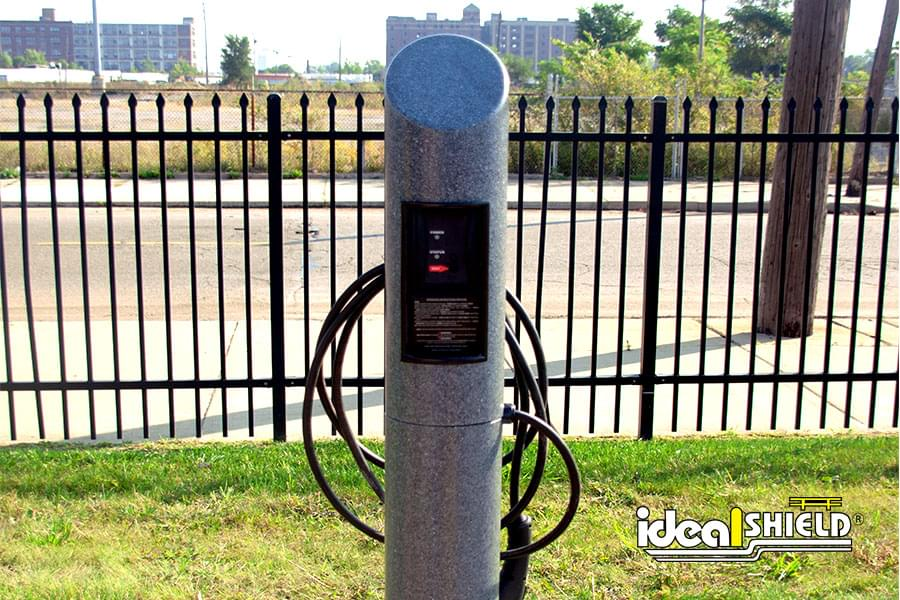 Ideal Shield's Electric Vehicle Charging Station at local business