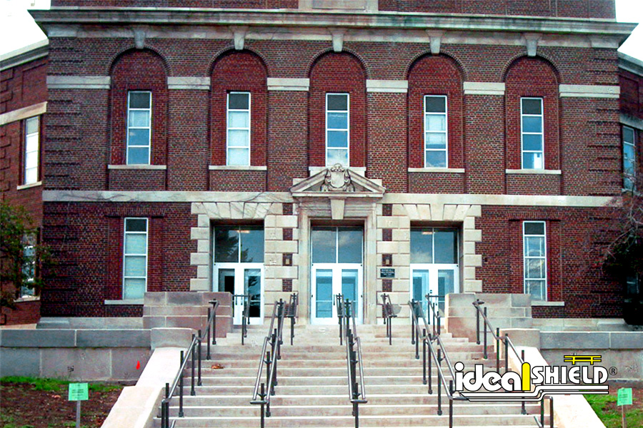 Ideal Shield's Steel Handrail at the steps of a school