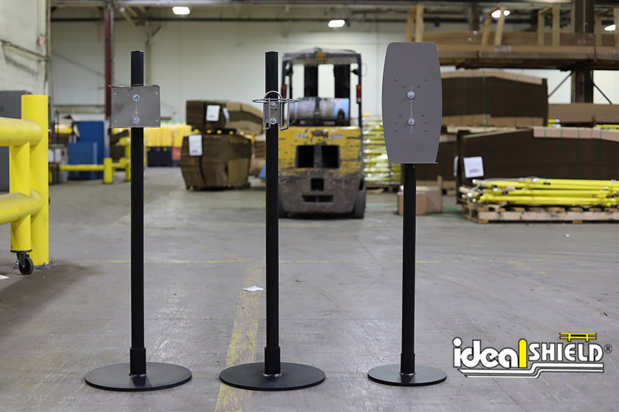 Ideal Shield's Sanitizer Stand options
