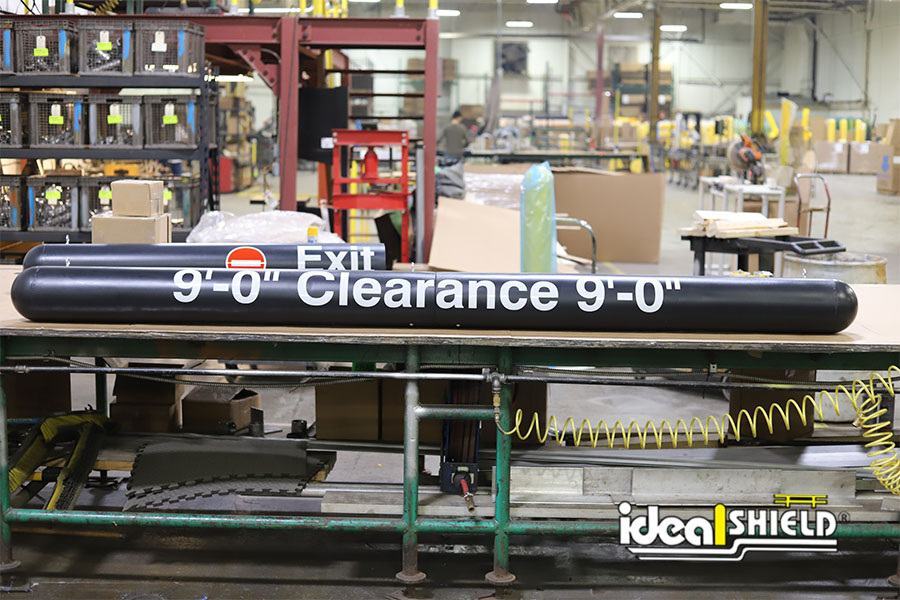 Ideal Shield's Black Clearance Bar with custom decals