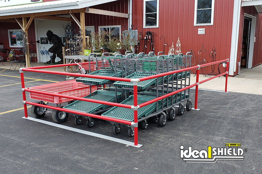 Ideal Shield's red Cart Corral