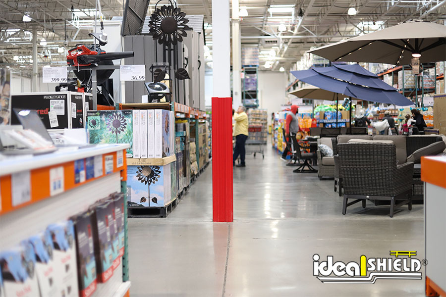Ideal Shield's red Column Wraps at Costco