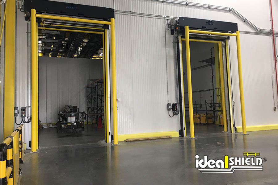 Ideal Shield's Dock Door Goal Posts in a manufacturing center