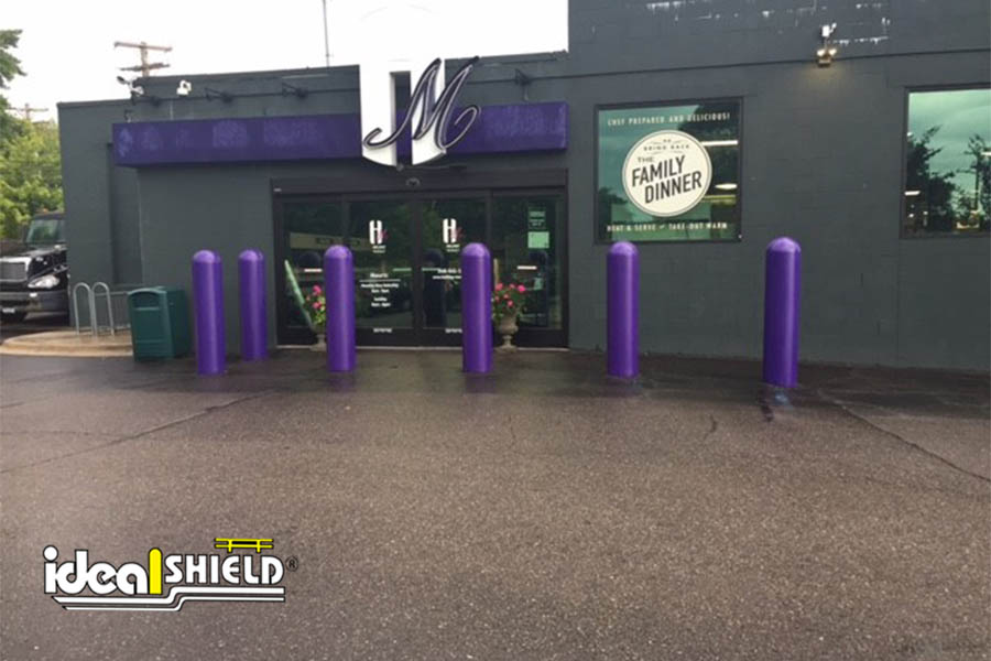 "Ideal Shield's Purple 1/4"" Bollard Covers at Holiday Market"