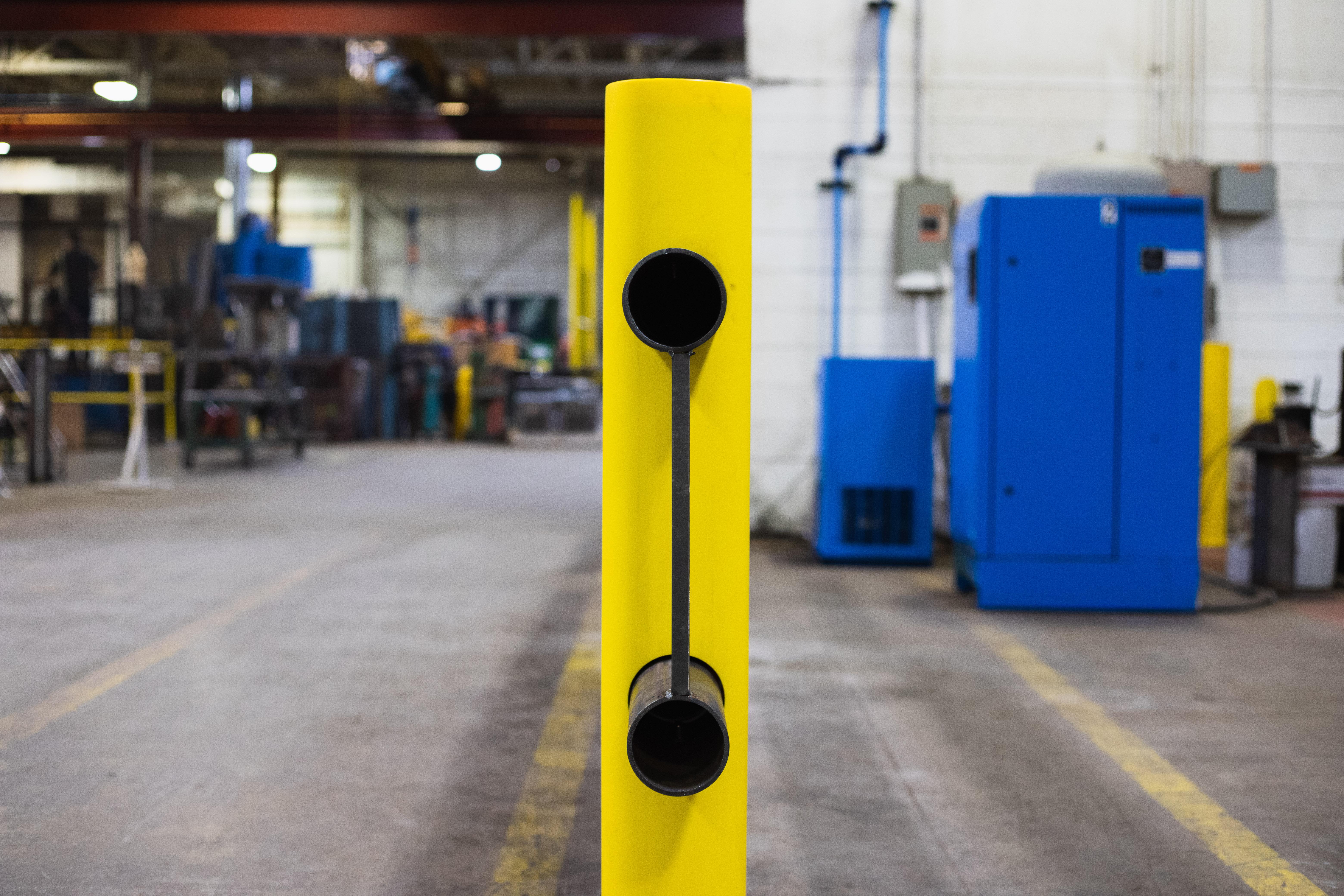 Ideal Shield's Heavy Duty Guardrail Swing Gate locking pin