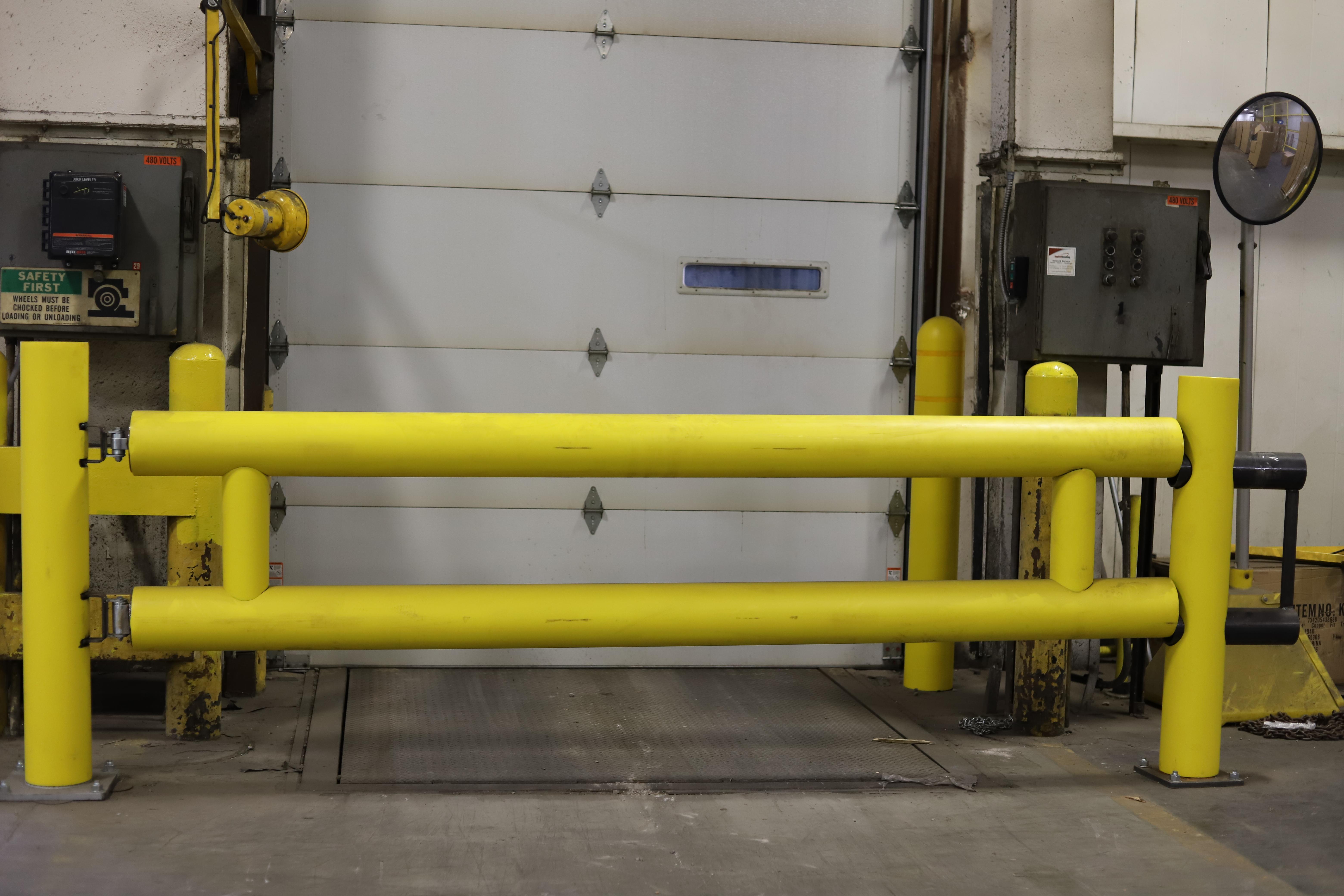 Ideal Shield's Heavy Duty Guardrail Swing Gate at dock doors