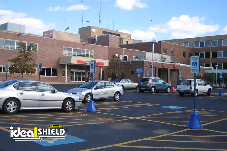 Ideal Shield's Octagon Sign Base used for handicap accessible parking