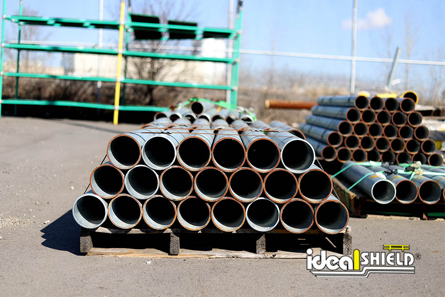 Ideal Shield's Steel Pipe Bollards supply in the yard