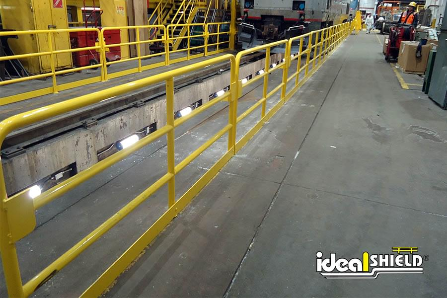 Ideal Shield's yellow painted Steel Handrail