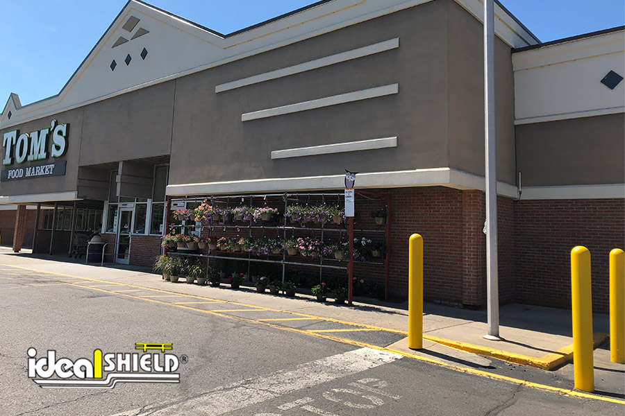 Ideal Shield's Yellow Bollard Covers at Tom's Supermarket