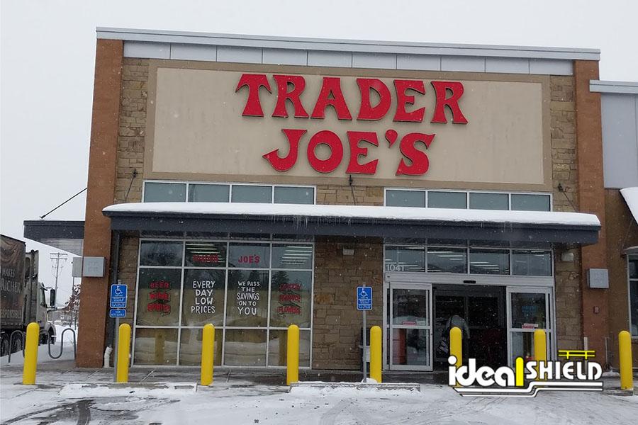 """Ideal Shield's Yellow 1/4"""" Bollard Covers at Trader Joe's"""