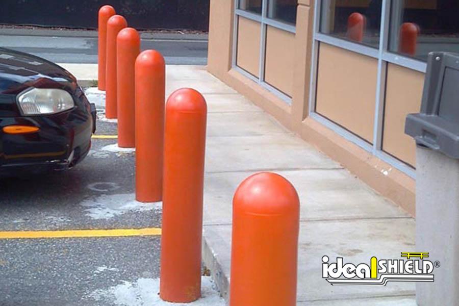 "1/8"" Orange Bollard Covers for Dunkin Donuts"