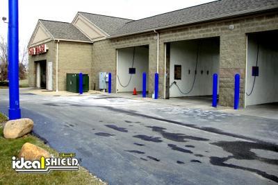 "Car Wash Blue Doorway Protection Bollard Cover 1/4"""