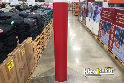 Ideal Shield's Red Round Column Wrap at Costco