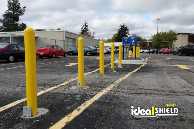 Ideal Shield's Removable Locking Bollards at the Detroit Zoo