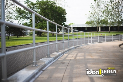 Long run of Ideal Shield's Aluminum Handrail at Ford's Headquarters