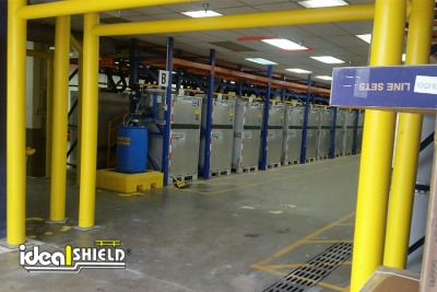 Ideal Shield's Goal Posts for forklift aisle protection