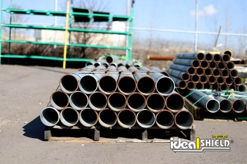 Ideal Shield's Steel Pipe Bollards in the yard