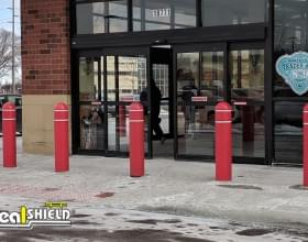 "Ideal Shield's 1/4"" Bollard Covers at Trader Joe's"