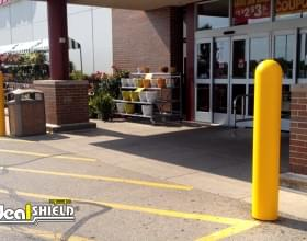 "Ideal Shield's yellow 1/4"" Bollard Covers"