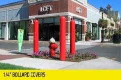 "Retail - 1/4"" bollard covers"