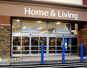 "Ideal Shield's blue 1/8"" Bollard Covers at Walmart"