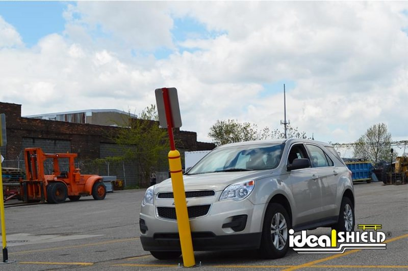 Ideal Shield Flexpost Sign System Vehicle Impact Damage Protection
