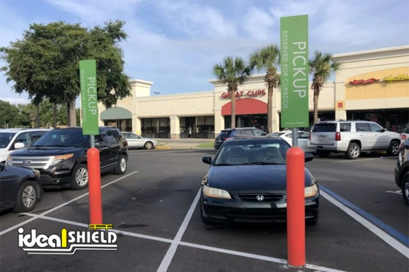 Ideal Shield Flexpost Sign System -Curbside-Pickup