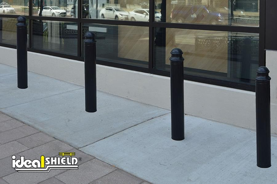 Paramount Decorative Bollard Cover Protecting Retail Store Front