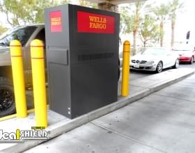"""Wells Fargo ATM Protection With 1/8"""" Bollard Covers"""