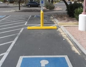 Yellow Plastic Parking Block