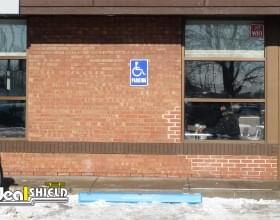 Handicap Blue Parking Block