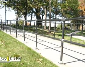 Steel Handrail Pedestrian Walkway