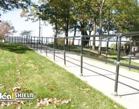 Black Steel and Plastic Handrail For Walkway