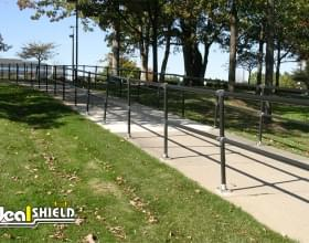 Modular Handrail Protecting Walkway