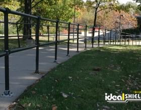 Steel Pipe & Plastic Handrail for Sidewalk