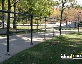 Steel Pipe and Plastic Handrail Sidewalk Trail