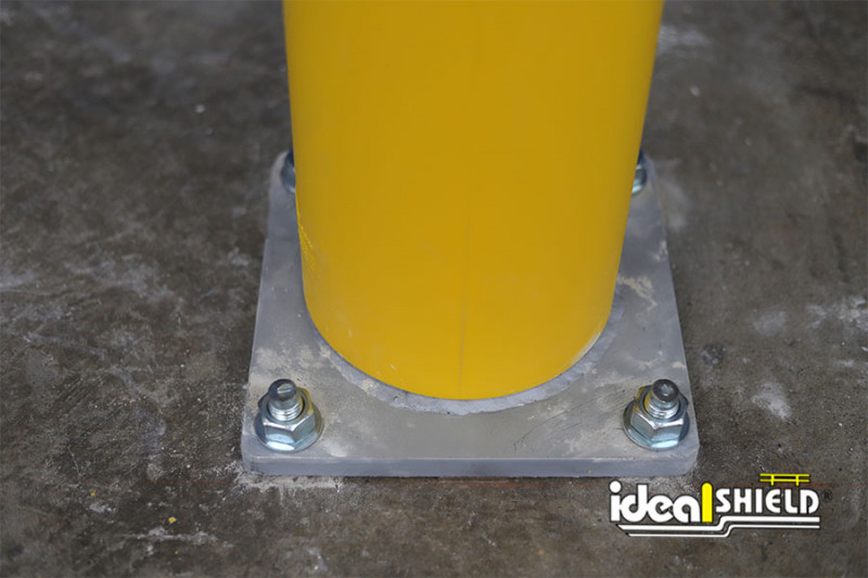Ideal Shield's standard Base Plate with rounded edges to limit sharp corners and trip hazards