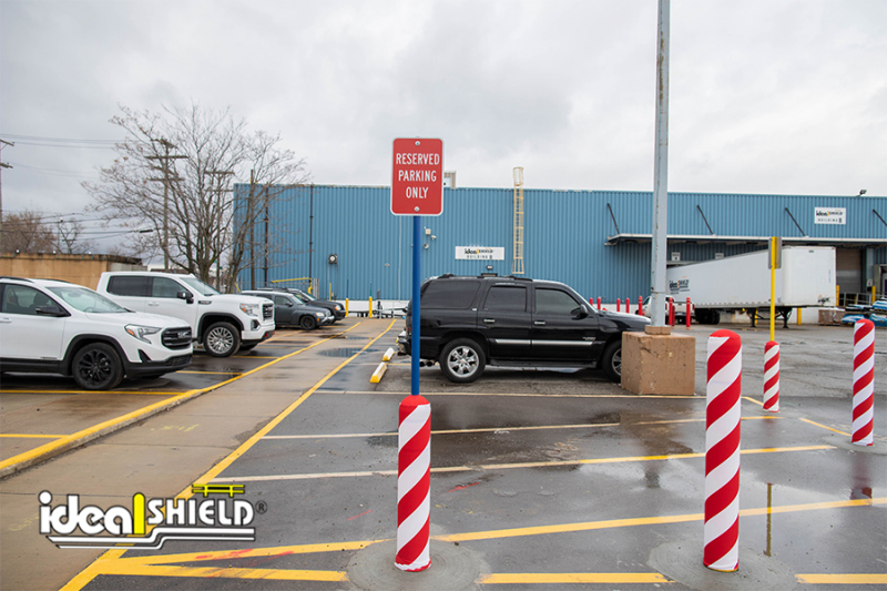 Ideal Shield's C40 Traffic Impact Bollard Sign Systems  with AdShields