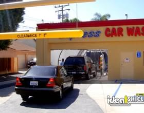 Car Wash Yellow Clearance Bar