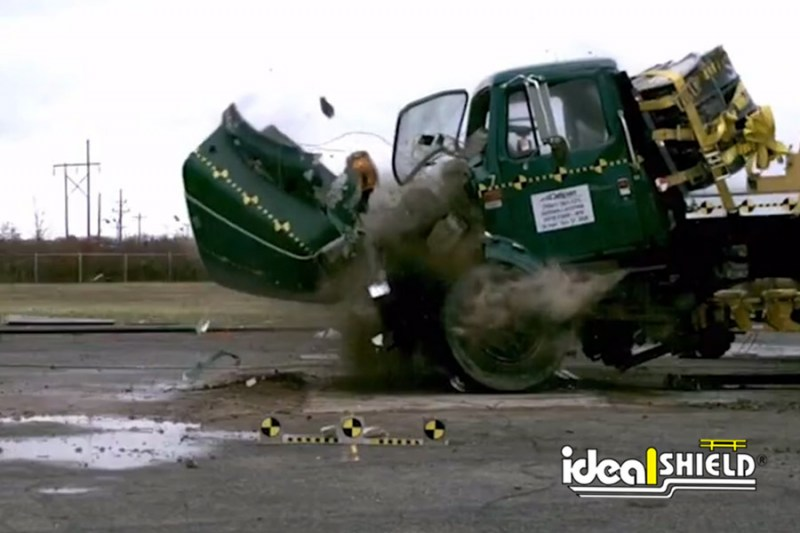 K4 Bollard Crash Test Result