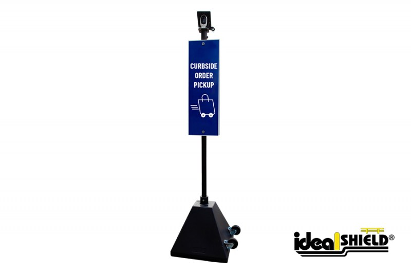Ideal Shield's Curbside Camera Sign Base System