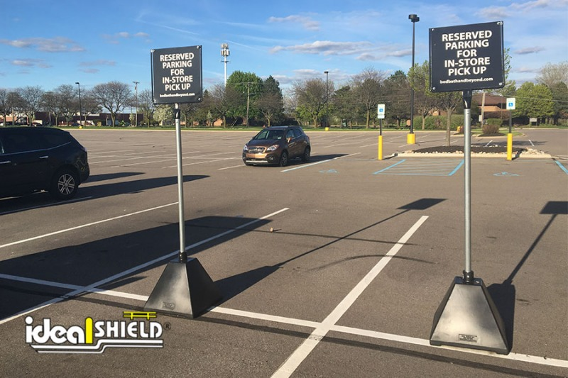 Ideal Shield's Black Sign Bases for designated parking