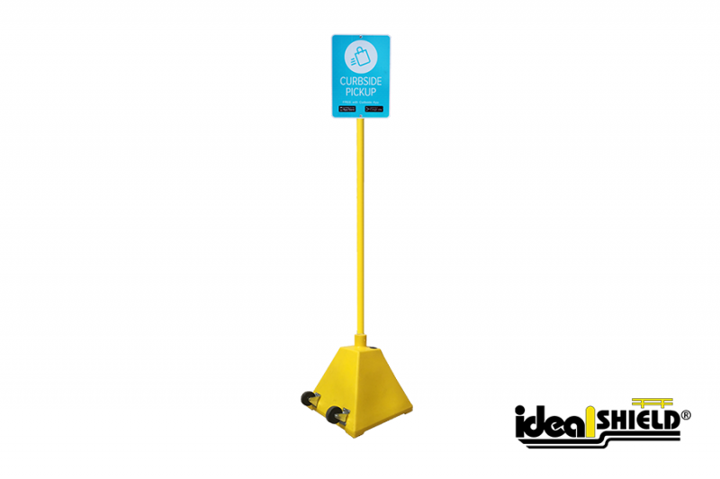 Ideal Shield's Curbside Pickup Sign Base System