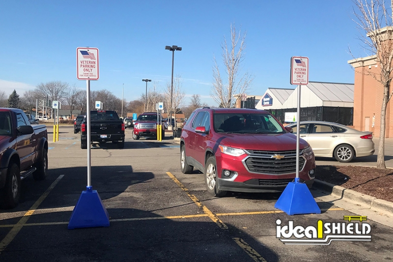 Ideal Shield's Blue Designated Parking Sign Bases at Lowe's