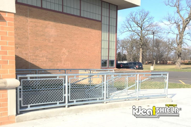 Ideal Shield's Aluminum Handrail with infill