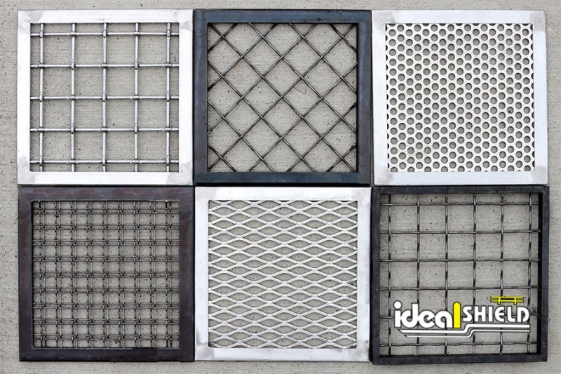 Some of Ideal Shield's many infill panel options